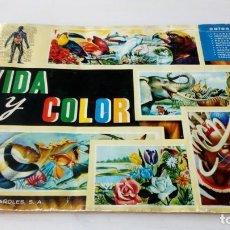 Coleccionismo Álbum: ALBUM COMPLETO A FALTA DE UNO VIDA Y COLOR ALBUMES ESPAÑOLES S.A. Lote 138826942
