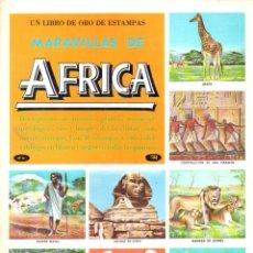 Coleccionismo Álbum: LIBRO DE ORO DE ESTAMPAS MARAVILLAS DE ÁFRICA. Lote 139192114