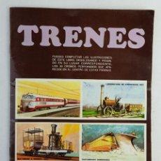 Coleccionismo Álbum: ALBUM DE CROMOS TRENES-SUSAETA S.A, 1971-COMPLETO. Lote 139223742