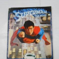 Coleccionismo Álbum: ALBUM DE CROMOS SUPERMAN THE MOVIE. AÑO 1979. LIBRO PARA CROMOS EDITORIAL FHER. TDKC38. Lote 139259326