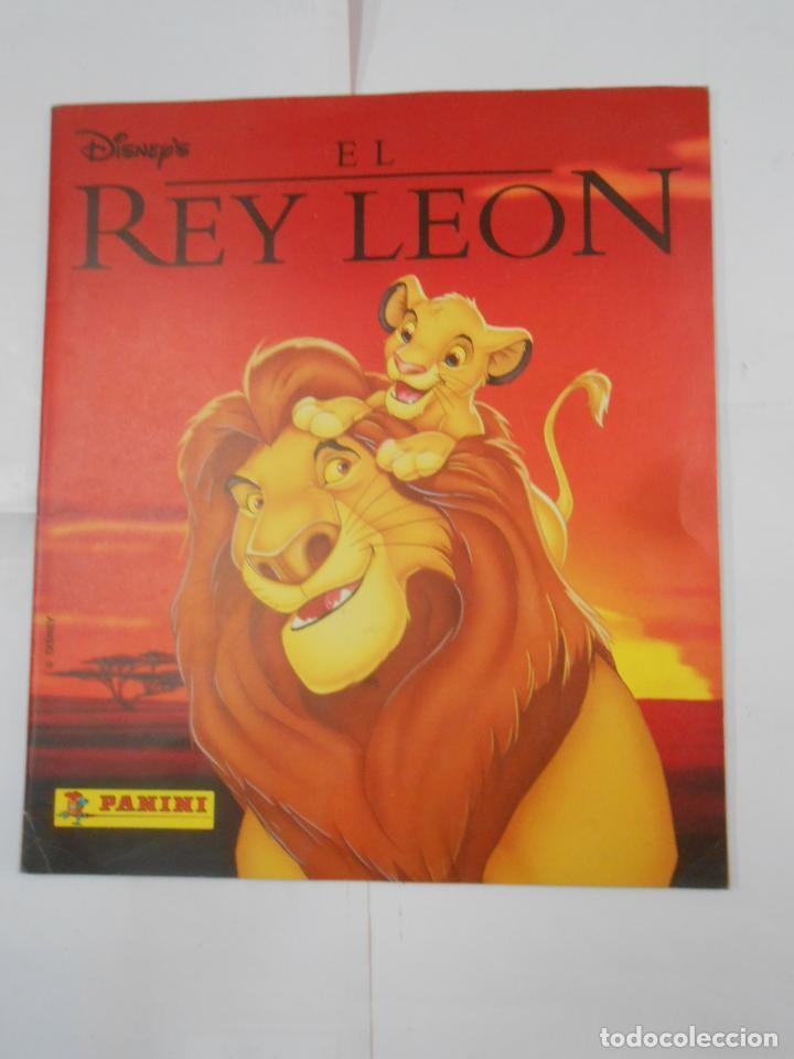ALBUM DE CROMOS EL REY LEON. DISNEY. PANINI. COMPLETO. TDKC38 (Coleccionismo - Cromos y Álbumes - Álbumes Completos)