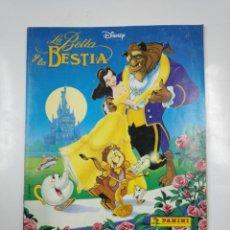 Coleccionismo Álbum: LA BELLA Y LA BESTIA. ALBUM DE CROMOS DISNEY PANINI. COMPLETO. TDKC38. Lote 139417114