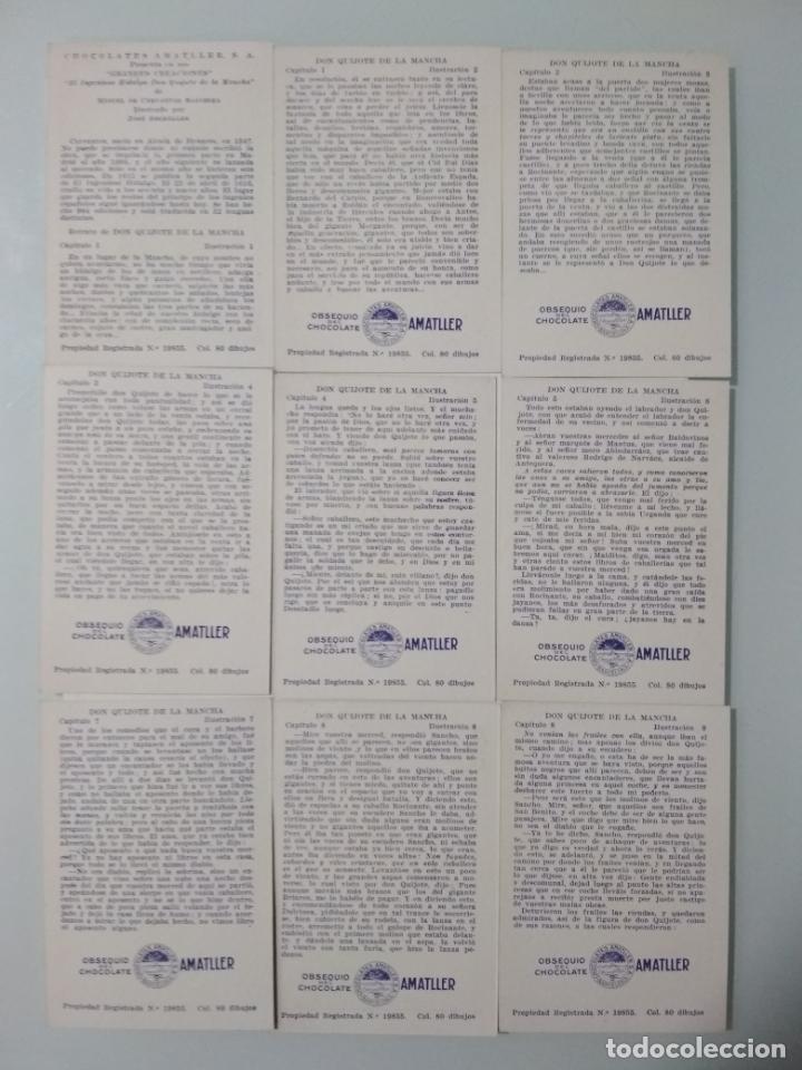 Coleccionismo Álbum: EL INGENIOSO HIDALGO DON QUIJOTE DE LA MANCHA, COLECCION COMPLETA, 80 CROMOS, CHOCOLATES AMATLLER - Foto 5 - 139596382