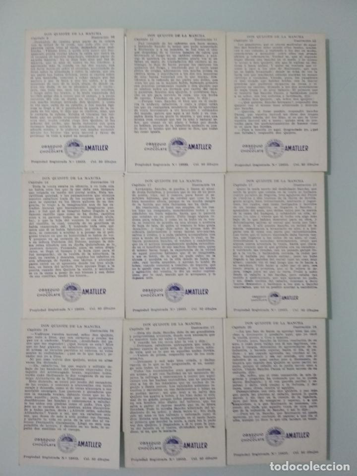 Coleccionismo Álbum: EL INGENIOSO HIDALGO DON QUIJOTE DE LA MANCHA, COLECCION COMPLETA, 80 CROMOS, CHOCOLATES AMATLLER - Foto 6 - 139596382