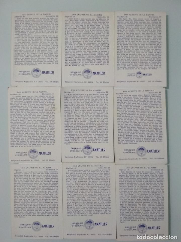 Coleccionismo Álbum: EL INGENIOSO HIDALGO DON QUIJOTE DE LA MANCHA, COLECCION COMPLETA, 80 CROMOS, CHOCOLATES AMATLLER - Foto 8 - 139596382