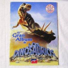 Coleccionismo Álbum: EL GRAN ALBUM DE LOS DINOSAURIOS MV EDITORES 1993 COMPLETO (TODO EL CONTENIDO FOTOGRAFIADO). Lote 139744210