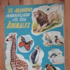 Coleccionismo Álbum: EL MUNDO MARAVILLOSO DE LOS ANIMALES FHER BILBAO ALBUM DE CROMOS PERO IMPRESOS DIRECTAMENTE. Lote 139826997