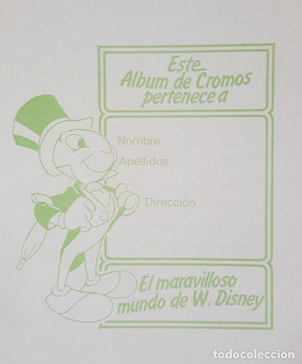 Coleccionismo Álbum: ALBUM DE CROMOS COMPLETO. EL MARAVILLOSO MUNDO DE WALT DISNEY. ESPAÑA. 1985 - Foto 3 - 139946454