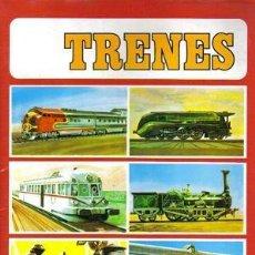 Coleccionismo Álbum: TRENES. - ÁLBUM DE CROMOS COMPLETO.. Lote 140126257