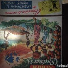 Coleccionismo Álbum: LA ASCENSION AL MONTE EVEREST. CHOCOLACAO. COMPLETO. UNICO Y DIFICILISIMO. Lote 140149334