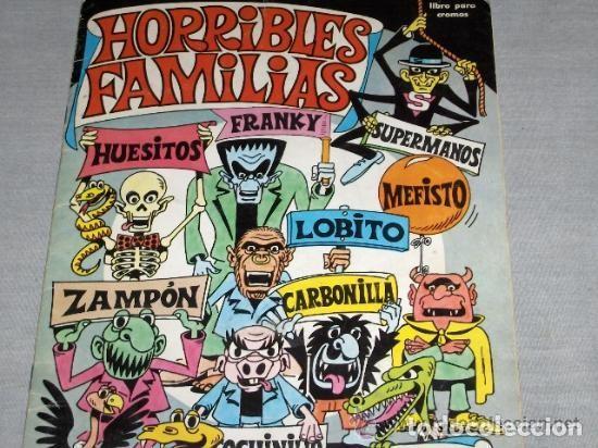 HORRIBLES FAMILIAS. COMPLETO Y DIFICIL DE ENCONTRAR. (Coleccionismo - Cromos y Álbumes - Álbumes Completos)