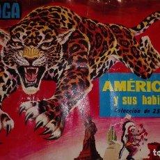 Coleccionismo Álbum: AMÉRICA Y SUS HABITANTES. ALBUM EDITORIAL MAGA. AÑO 1968. COMPLETO: 252 CROMOS.. Lote 140618354