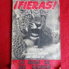 Coleccionismo Álbum: FIERAS ALBUM COMPLETO DE 100 CROMOTIPIAS. SUPLEMENTO DEL ALBUM LAS MINAS DEL REY SALOMÓN. 1952. . Lote 140714042