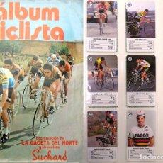 Coleccionismo Álbum: ALBUM 1973 CICLISTA Y BARAJA ASES CICLISMO. GACETA SUCHARD. MUY BUEN ESTADO. MERCKX THEVENET FUENTE. Lote 57868379