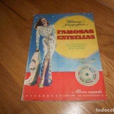 Coleccionismo Álbum: FAMOSAS ESTRELLAS DEL CINE - ALBUM SEGUNDO COMPLETO - ED· BRUGUERA MUY BUEN ESTADO . Lote 140866470