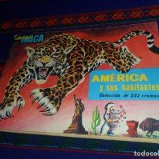 Coleccionismo Álbum: AMÉRICA Y SUS HABITANTES COMPLETO 252 CROMOS. MAGA 1968.. Lote 195199176