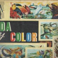 Coleccionismo Álbum: ALBUM 1965 VIDA Y COLOR 1. COMPLETO 380 CROMOS. ANIMALES, FLORES, ANATOMIA, TRIBUS. DA. Lote 141471430