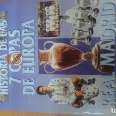 Coleccionismo Álbum: ÁLBUM CROMOS REAL MADRID. HISTORIA DE LAS 7 COPAS DE EUROPA. COMPLETO. Lote 141773042