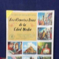 Coleccionismo Álbum: UN LIBRO DE ORO DE LAS ESTAMPAS N 13 LOS REMOTOS DIAS DE LA EDAD MEDIA NOVARO 1958 ALBUM DE CROMOS. Lote 141789598