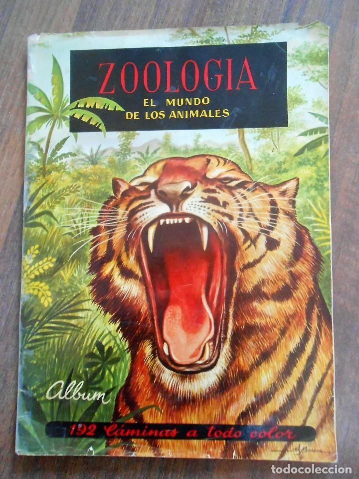ALBUM DE CROMOS ZOOLOGIA COMPLETO FERCA 1961 ALBUN ALFREEDOM ANIMALES ESTAMPAS CARDS CROMO (Coleccionismo - Cromos y Álbumes - Álbumes Completos)
