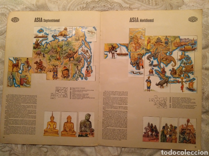Coleccionismo Álbum: Nuestro mundo. Album de cromos completo de Atlas ilustrado de bimbo de 1968. - Foto 9 - 142098282