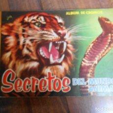 Coleccionismo Álbum: ALBUM CROMOS COMPLETO SECRETOS DEL REINO ANIMAL EDITORIAL ROLLAN 1958 CROMO ALBUN ANIMALES. Lote 142392514