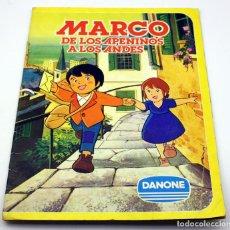 Coleccionismo Álbum: ALBUM DE CROMOS - MARCO DE LOS APENINOS A LOS ANDES - DANONE - COMPLETO - BUEN ESTADO. Lote 194729306