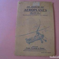 Coleccionismo Álbum: AN ALBUM OF AEROPLANES (CIVIL). JOHN PLAYER. COMPLETO.. Lote 143221090