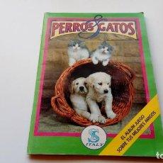 Coleccionismo Álbum: ALBUM COMPLETO PERROS Y GATOS EDITORIAL SL ITALY AÑO 1993. Lote 143405882