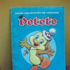 Coleccionismo Álbum: PETETE ALBUM DE CROMOS COMPLETO. 1982.. Lote 143590606