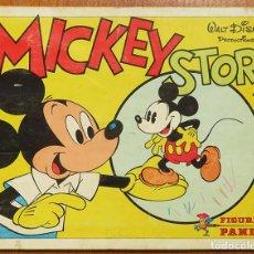 Coleccionismo Álbum: ALBUM 1982 MICKEY STORY WALT DISNEY PANINI. CASI COMPLETO. FALTA UN CROMO. Lote 143637146