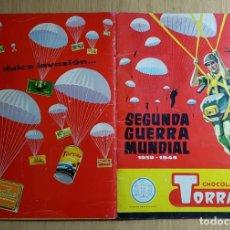 Coleccionismo Álbum: TORRAS - ÁLBUM SEGUNDA GUERRA MUNDIAL 1939-1945 - ALBUM COMPLETO RARO LEER DESRIPCION. Lote 143821258