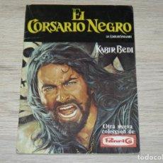 Coleccionismo Álbum: PANRICO ALBUM DE CROMOS COMPLETO EL CORSARIO NEGRO KABIR BEDI AÑO 1977 EMILIO SALGARI. Lote 144138858