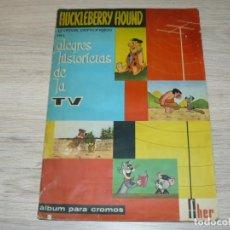 Coleccionismo Álbum: EDITORIAL FHER ALBUM DE CROMOS HUCKLEBERRY HOUND AÑO 1962 ALEGRES HISTORIETAS DE LA TV. Lote 144393318