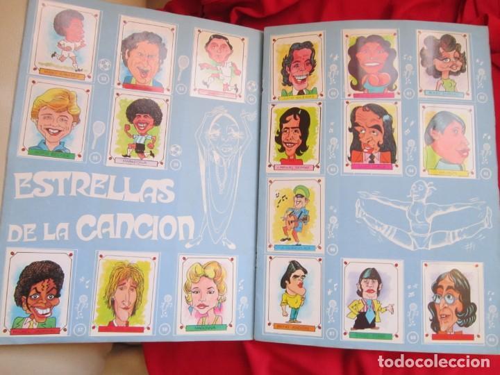 Coleccionismo Álbum: ALBUM DE CROMOS CARICATURAS 22. COMPLETO 210 CROMOS. EDITORIAL ROS 1987 - Foto 4 - 145189490