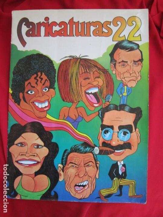 ALBUM DE CROMOS CARICATURAS 22. COMPLETO 210 CROMOS. EDITORIAL ROS 1987 (Coleccionismo - Cromos y Álbumes - Álbumes Completos)
