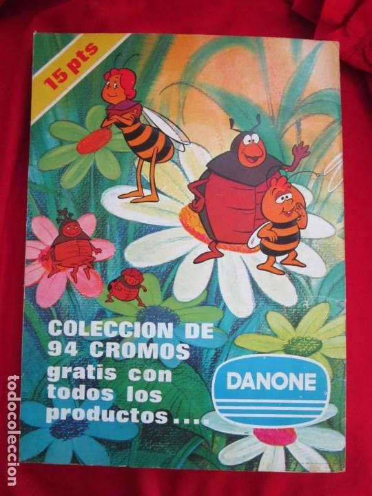 Coleccionismo Álbum: ALBUM DE CROMOS LAS AVENTURAS DE LA ABEJA MAYA. COMPLETO 94 CROMOS. DANONE 1977 MBE - Foto 2 - 145234906