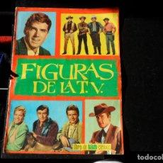 Coleccionismo Álbum: ALBUM FIGURAS DE LA TV EDICIONES FHER 1965 COMPLETO 180 CROMOS. Lote 145235174
