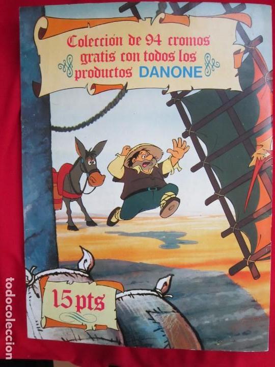 Coleccionismo Álbum: ALBUM DE CROMOS DON QUIJOTE DE LA MANCHA. COMPLETO 94 CROMOS. DANONE 1979 MBE - Foto 2 - 145235294