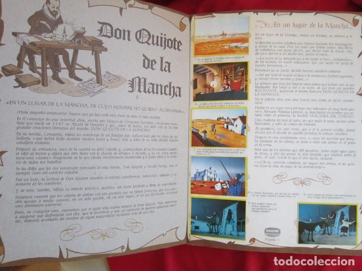 Coleccionismo Álbum: ALBUM DE CROMOS DON QUIJOTE DE LA MANCHA. COMPLETO 94 CROMOS. DANONE 1979 MBE - Foto 3 - 145235294