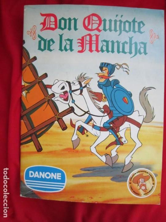 ALBUM DE CROMOS DON QUIJOTE DE LA MANCHA. COMPLETO 94 CROMOS. DANONE 1979 MBE (Coleccionismo - Cromos y Álbumes - Álbumes Completos)