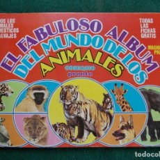 Coleccionismo Álbum: ALBUM EL FABULOSO MUNDO DE LOS ANIMALES REVISTA PRONTO COMPLETO SIN ESCRITOS. Lote 145260394