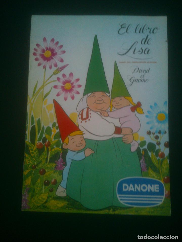 EL LIBRO DE LISA - DAVID EL GNOMO DANONE (Coleccionismo - Cromos y Álbumes - Álbumes Completos)