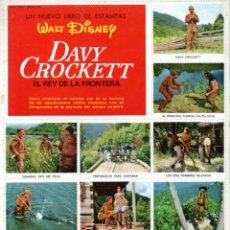 Coleccionismo Álbum: WALT DISNEY : LIBRO DE ORO DE ESTAMPAS DAVY CROCKETT COMPLETO CON LOS CROMOS EN LÁMINAS SIN PEGAR. Lote 145758550