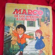 Coleccionismo Álbum: ALBUM COMPLETO MARCO. DE LOS APENINOS A LOS ANDES. 1ª PARTE DANONE 1976. 84 CROMOS. Lote 146650210