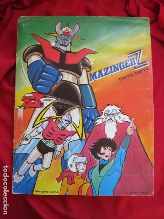 ALBUM COMPLETO MAZINGER Z EXITO DE TV. EDITORIAL FHER 1978. BASTANTE BUENO (Coleccionismo - Cromos y Álbumes - Álbumes Completos)