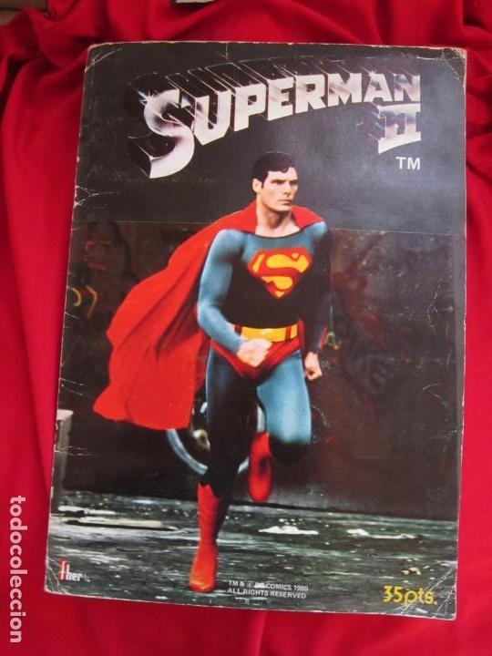 ALBUM COMPLETO SUPERMAN II. EDITORIAL FHER 1980. (Coleccionismo - Cromos y Álbumes - Álbumes Completos)