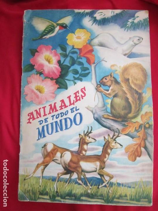 ALBUM SEMI COMPLETO ANIMALES DE TODO EL MUNDO. EDITORIAL FHER. AÑOS 50. FALTAN 17 CROMOS (DE 300) (Coleccionismo - Cromos y Álbumes - Álbumes Completos)