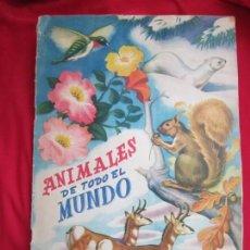 Coleccionismo Álbum: ALBUM SEMI COMPLETO ANIMALES DE TODO EL MUNDO. EDITORIAL FHER. AÑOS 50. FALTAN 17 CROMOS (DE 300). Lote 146656606