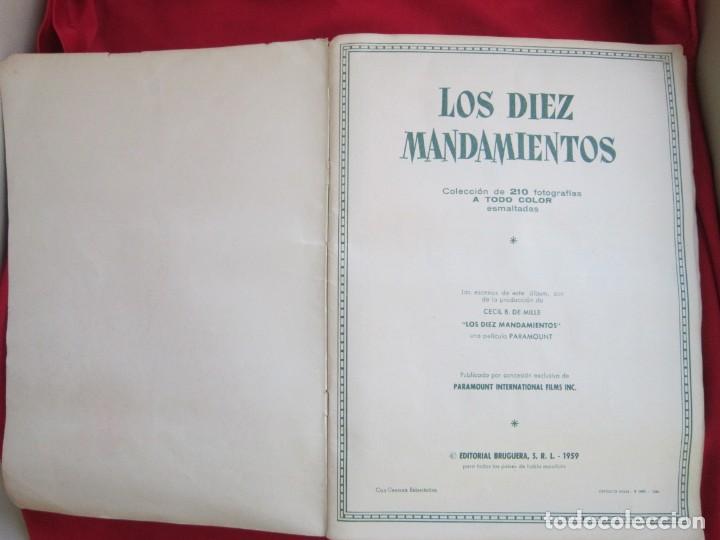 Coleccionismo Álbum: ALBUM COMPLETO LOS DIEZ MANDAMIENTOS. EDITORIAL BRUGUERA, 1959. BASTANTE BUENO - Foto 3 - 146657390